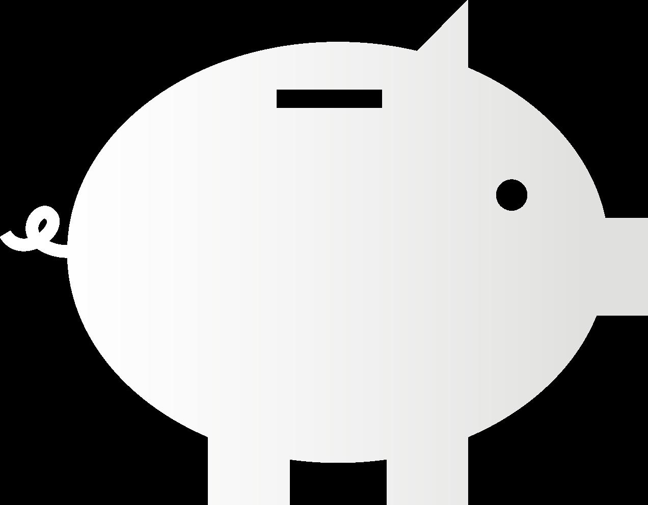 paper piggy bank icon